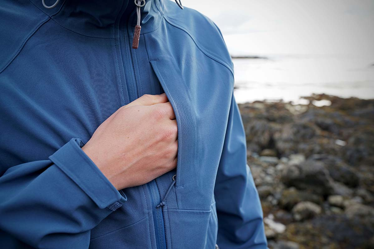 The North Apex Flex GTX (chest pocket)