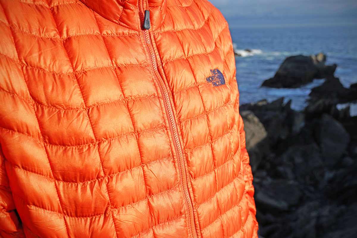 The North Face Thermoball (baffle design close-up)