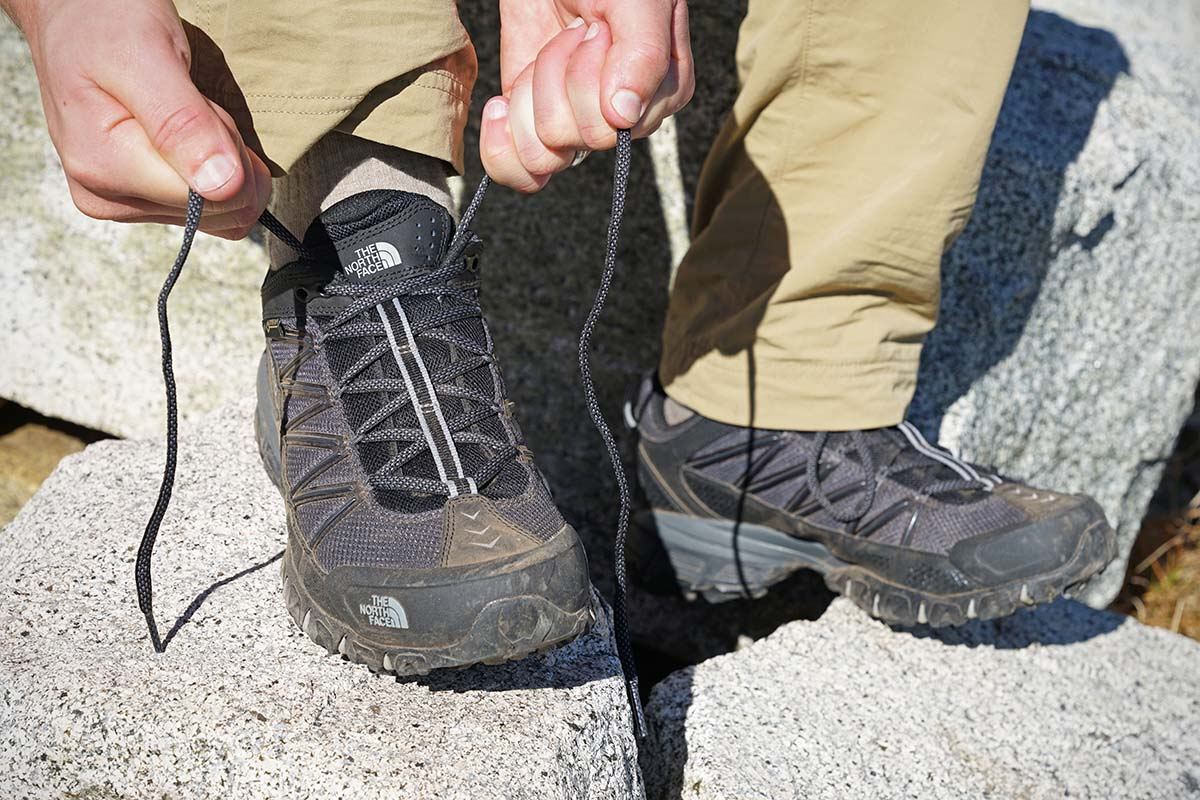 The North Face Ultra 110 GTX (lacing)