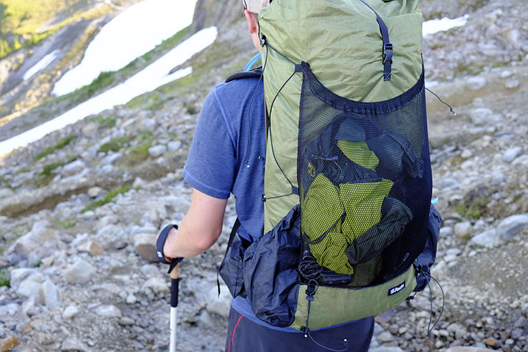 b5f2178cec The Zpacks Arc Blast has a large mesh outer pocket