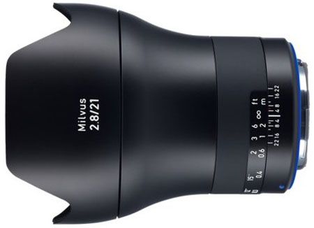 Zeiss Milvus 21mm lens for Canon