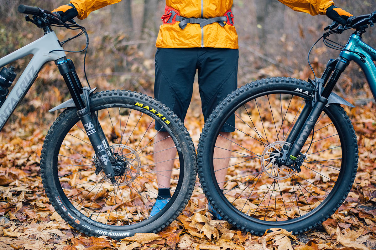27.5 vs. 29er wheel sizes