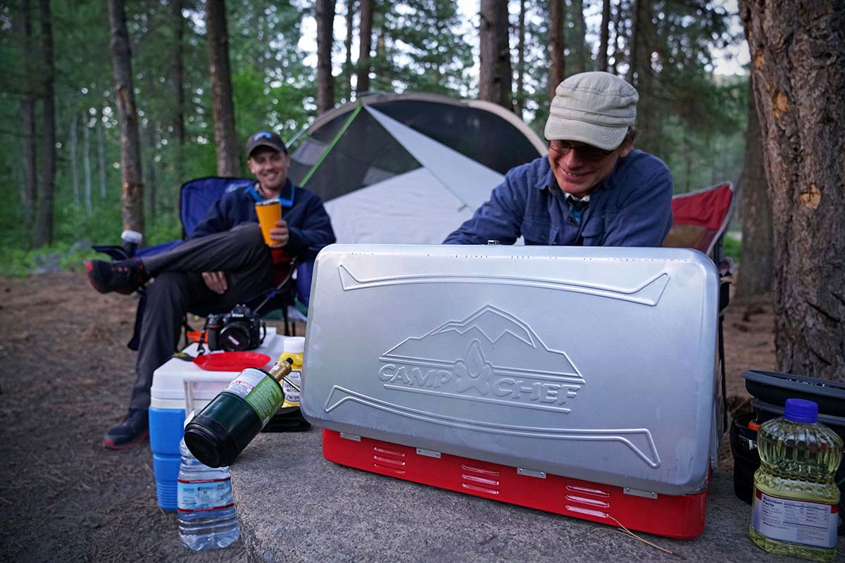 Camping Stove (cooking with Camp Chef Everest)