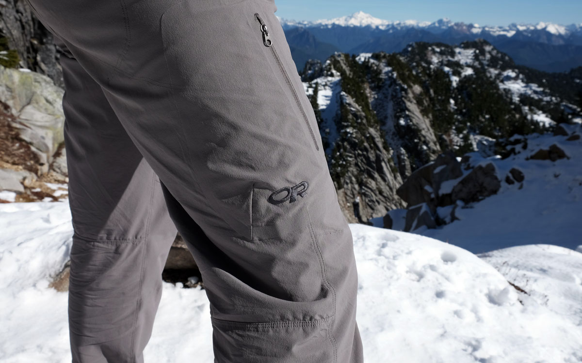 Hiking Pants (Outdoor Research Ferrosi in snow)