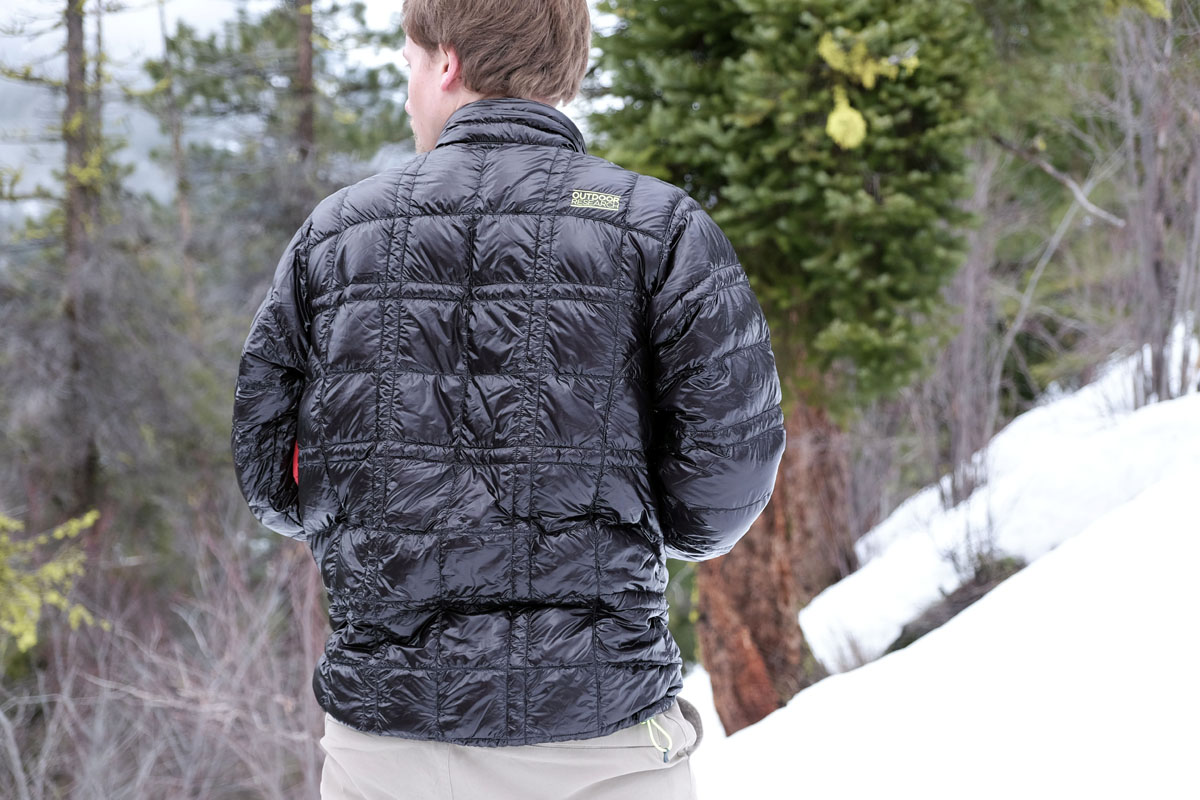 Review: Outdoor Research Filament Down Pullover | Switchback Travel