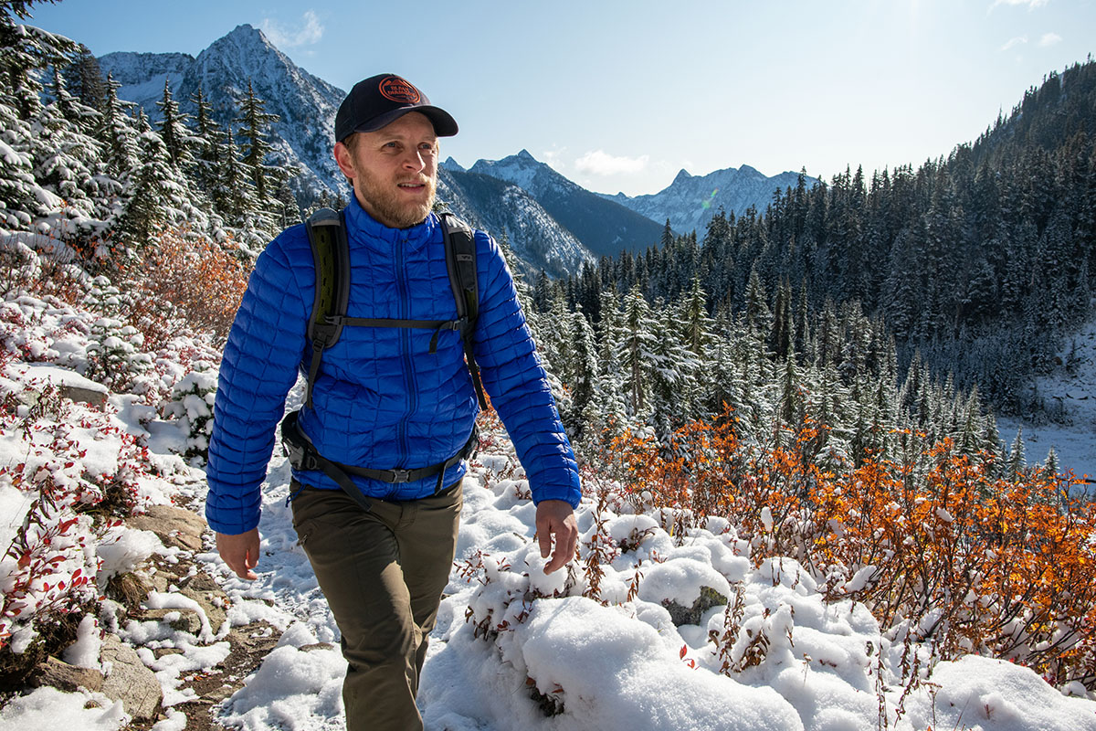 The North Face ThermoBall Eco jacket (fall hiking)