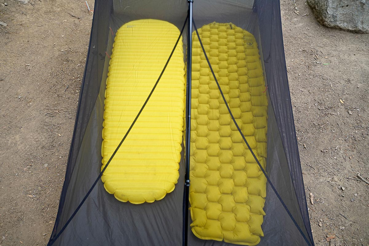 Backpacking sleeping pads (length comparison)