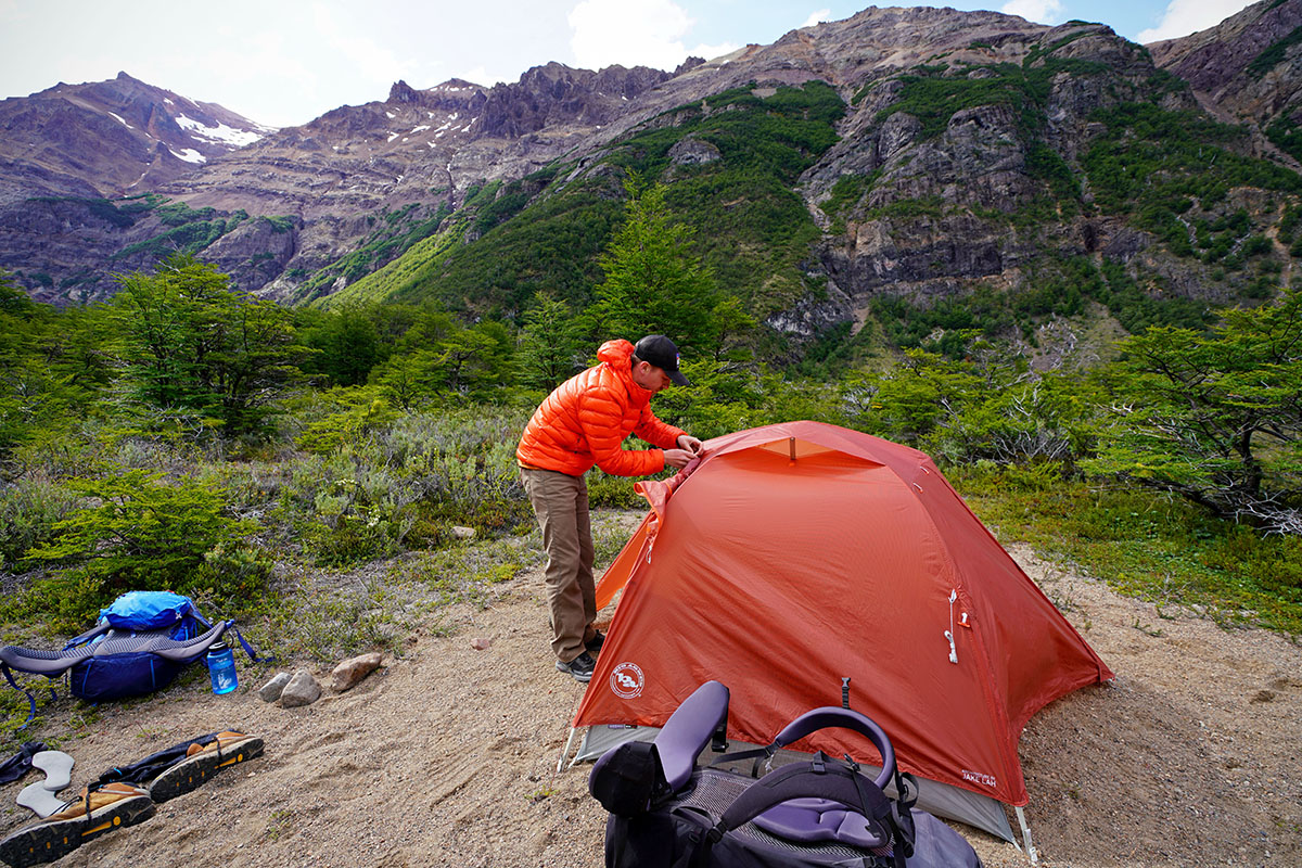 Big Agnes Copper Spur backpacking tent (at campsite)