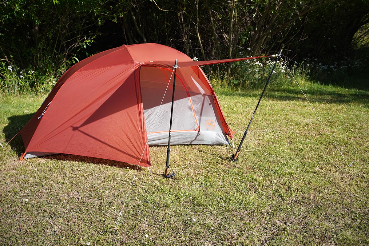 Big Agnes Copper Spur backpacking tent (awnings pitched)