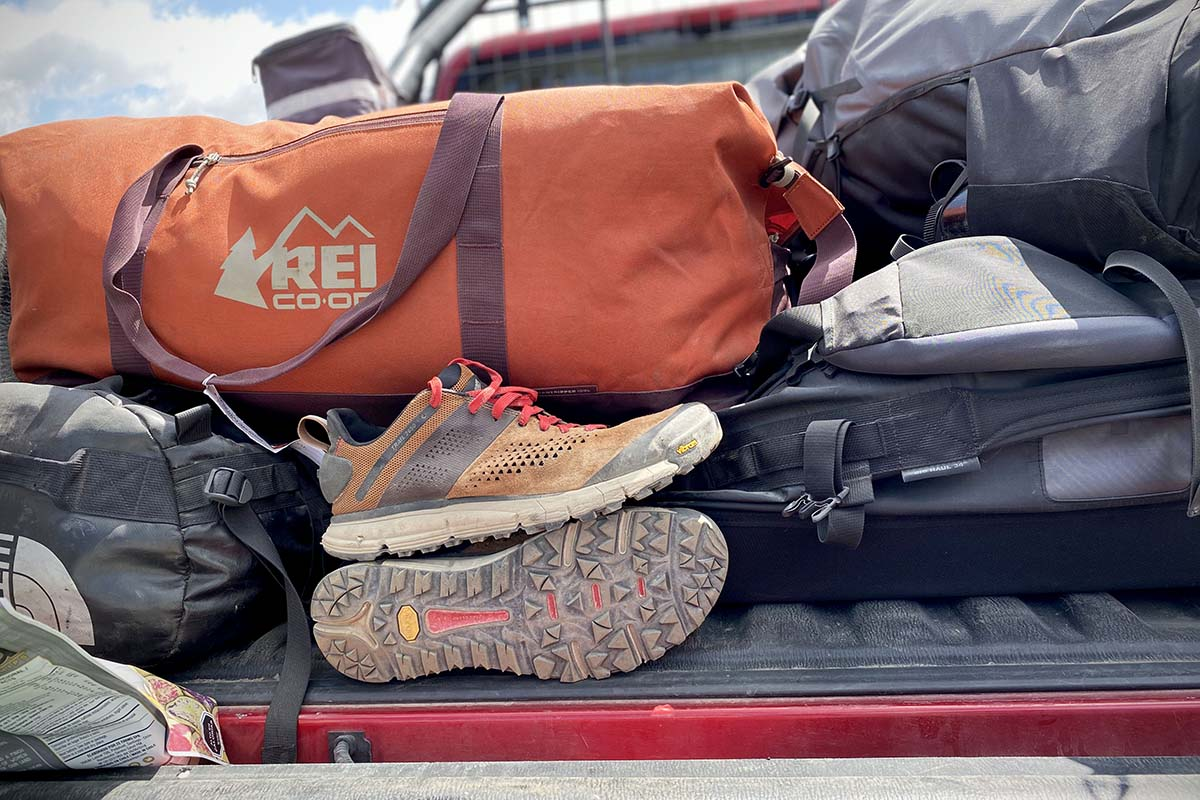 Danner Trail 2650 hiking shoes (in back of truck)