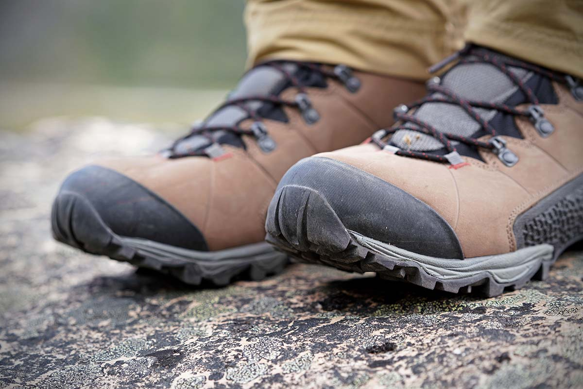 La Sportiva Nucleo High GTX hiking boot (toe protection detail)