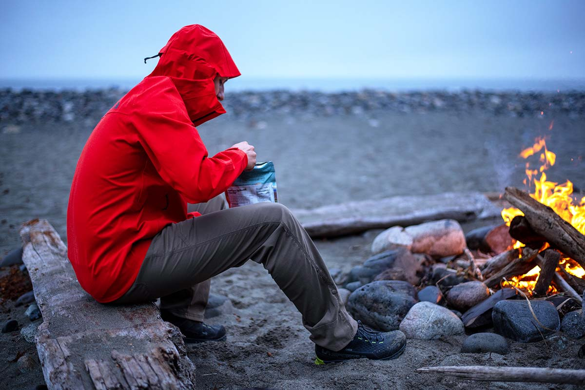 La Sportiva Spire GTX (eating dinner by fire)