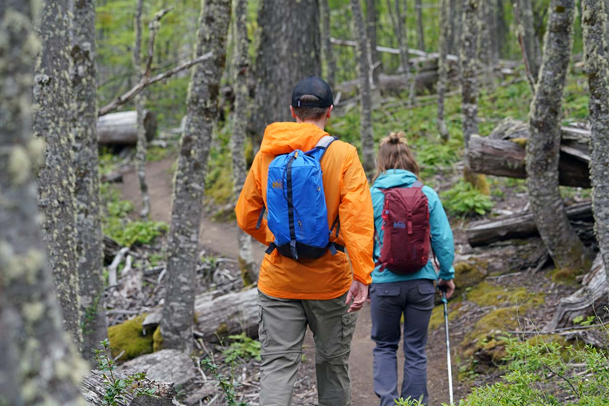 REI Co-op Flash 18 Pack (hiking in forest with Flash 22)