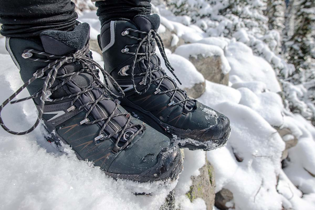 Salomon X Ultra Winter CS WP 2 winter boot (close-up of boots)