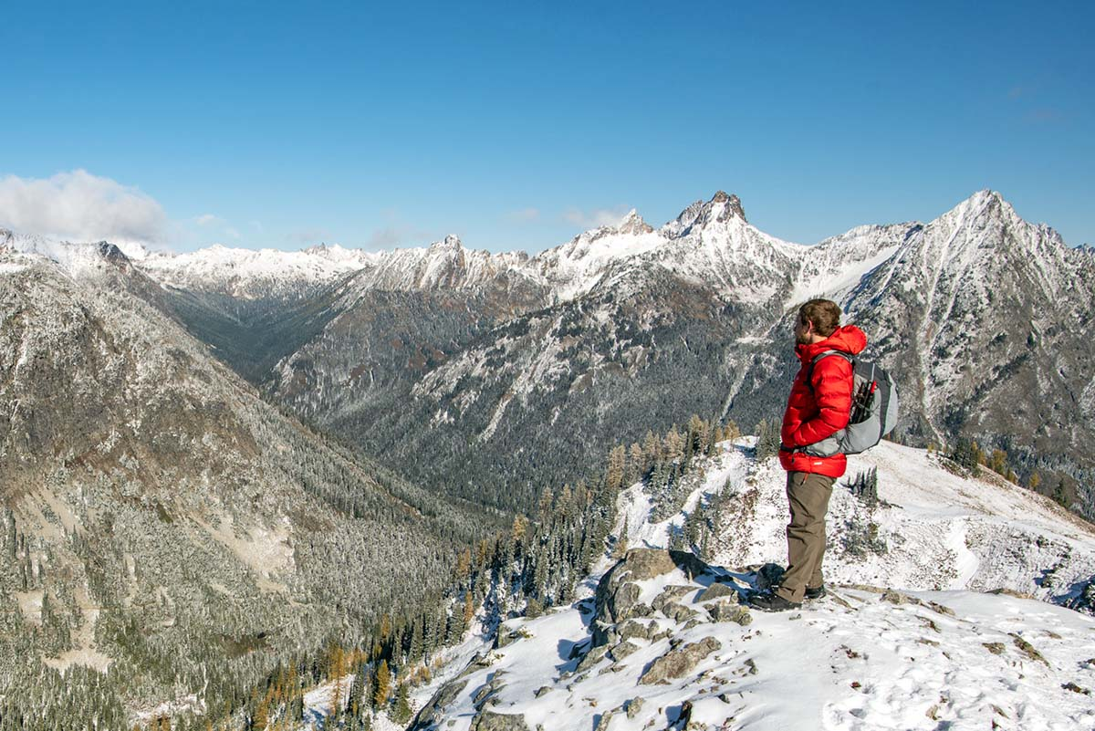 Salomon X Ultra Winter CS WP 2 winter boot (looking out from snowy ridgeline vista)