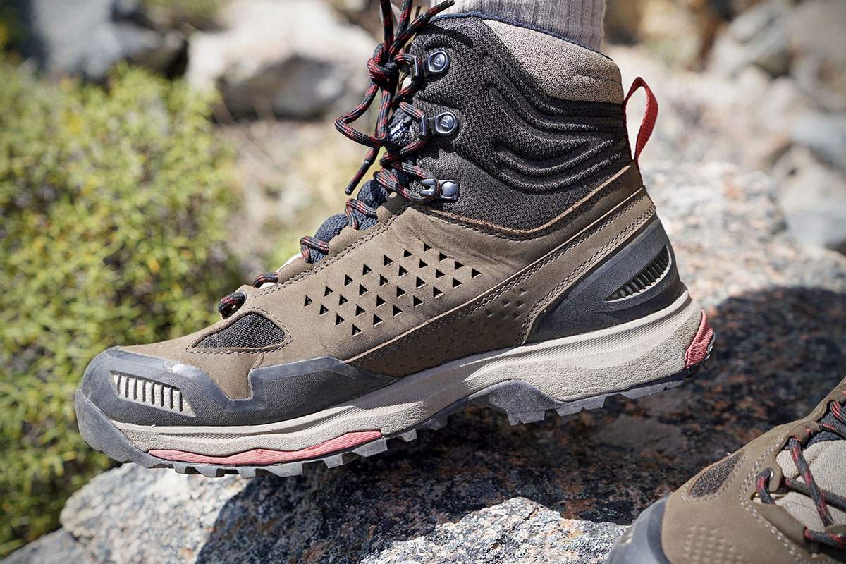 Vasque Breeze AT Mid hiking boots (ventilation panel on upper)