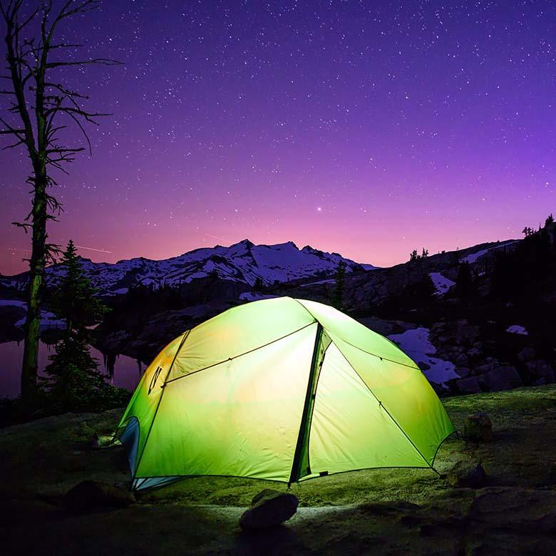 Backpacking Tent scene