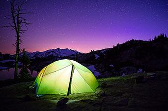 Backpacking Tent (nighttime)