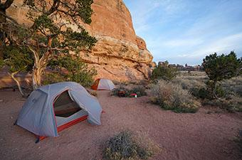 Backpacking tents (camping in Canyonlands)