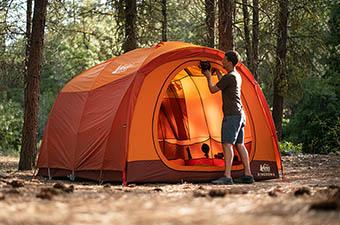 Camping Tent (REI Kingdom 6 storing door)