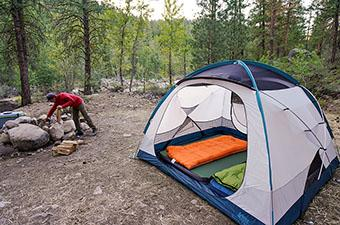 Camping tent (REI Co-op Base Camp 6