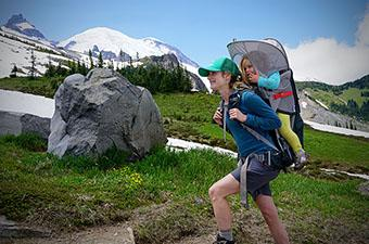 Child Carrier Pack (hiking near Mount Rainier)