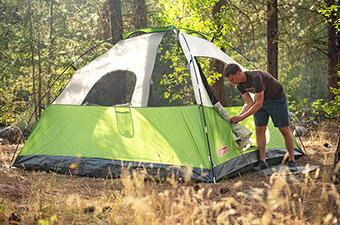 Coleman Sundome 6 tent (at campsite)