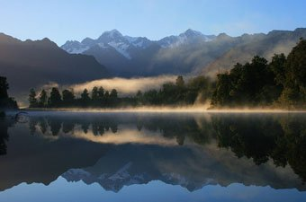 Fox Glacier from Lake Matheson