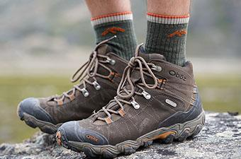 Hiking socks (Darn Tough socks with Oboz Bridger boots)
