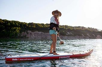 Inflatable Paddle Board (Standing on Boardworks SHUBU Raven)