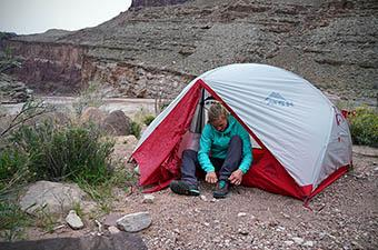 MSR Hubba Hubba NX tent (camping in Grand Canyon)