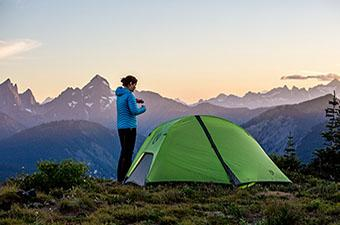 Nemo Hornet 2P backpacking tent in mountains