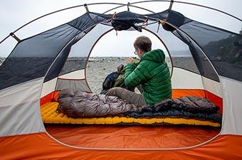 Nemo Tensor sleeping pad (campsite on Olympic Coast)