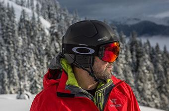 Oakley MOD5 snow helmet (in backcountry)