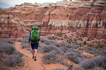 Osprey Exos 58 backpacking pack (hiking in Utah)