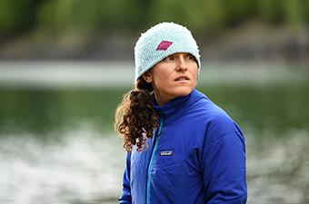 Patagonia Nano-Air Jacket (standing in front of lake)