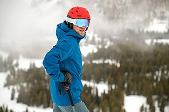 Patagonia Powder Bowl ski jacket (looking uphill)