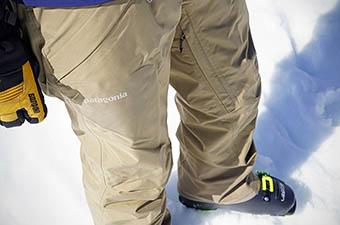 Patagonia ski pants (in snow)