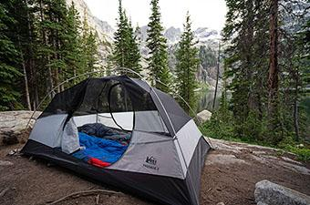 REI Co-op Passage 2 backpacking tent (campsite in Indian Peaks Wilderness)