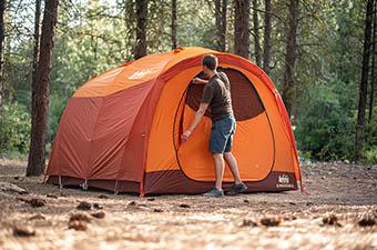 REI Co-op Kingdom 6 camping tent (campsite)