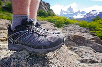 Salomon X Ultra 3 (standing on rock)