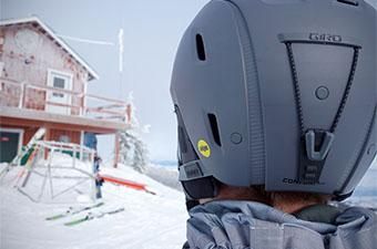 Ski helmet (Closeup of Giro Range)