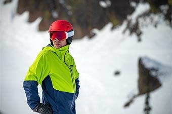 Smith Level MIPS ski helmet (looking downhill)