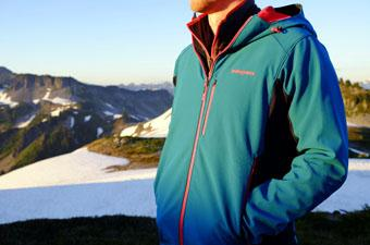 Softshell jacket (standing in the mountains)