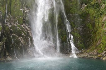 Waterfall Milford Sound