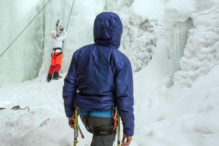 Arc'teryx Nuclei AR ice climbing