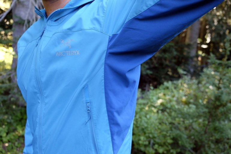 Arc'teryx Tenquille stretch panels