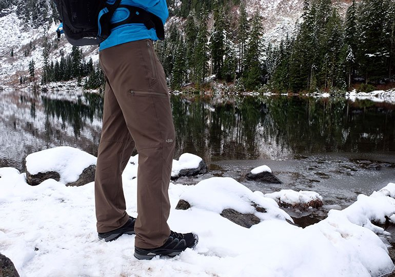 Lowa hiking boots snow