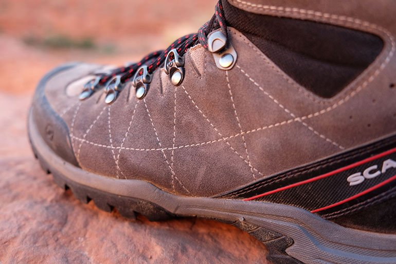 Scarpa hiking boots leather
