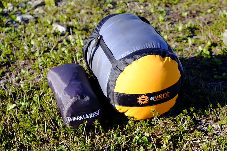 A High Quality Sleeping Pad And Down Bag Have Small Packed Sizes